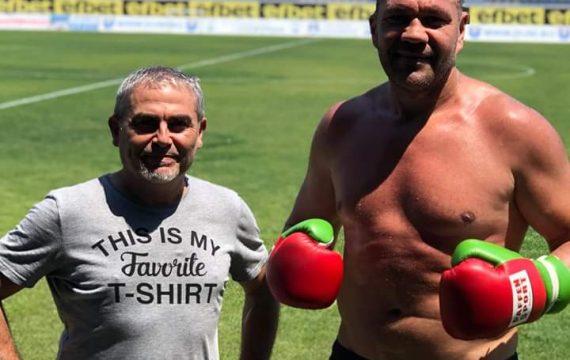 Първо в KOTASPORT: Кубрат Пулев с тренировка на стадиона в Созопол!